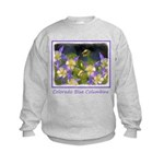 Colorado Blue Columbine Kids Sweatshirt
