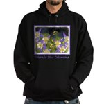 Colorado Blue Columbine Hoodie (dark)