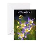 Colorado Blue Columbine Greeting Card