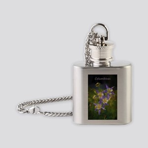 Colorado Blue Columbine Flask Necklace
