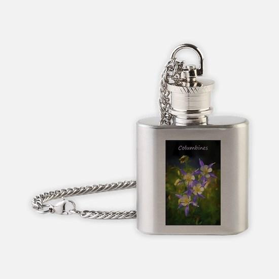 Colorado Blue Columbine Flask Necklace