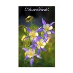Colorado Blue Columbine Sticker (Rectangle 10 pk)