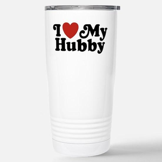 I Love My Hubby Stainless Steel Travel Mug