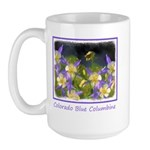Colorado Blue Columbine 15 oz Ceramic Large Mug