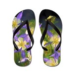 Colorado Blue Columbine Flip Flops
