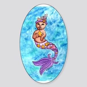 Starfish Mercat Oval Sticker