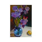 Blue Vase with Irises