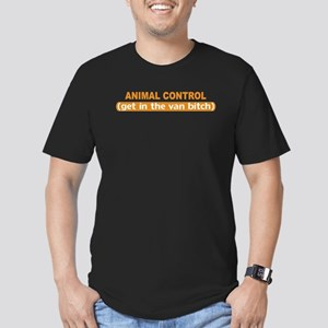 Animal Control Men's Fitted T-Shirt (dark)
