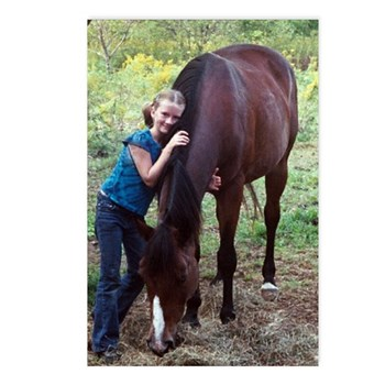 GIRL & HORSE Postcards (Package of 8)
