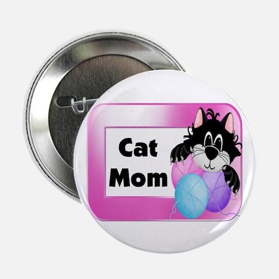 "Cat Mom 2.25"" Button"