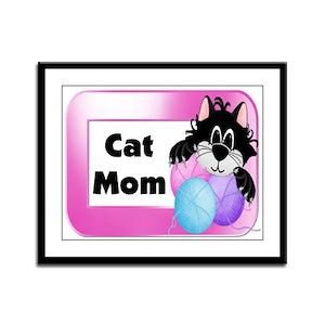 Cat Mom Framed Panel Print