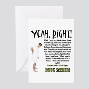 Drug Seeker Greeting Cards (Pk of 10)