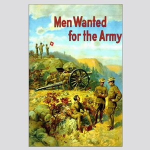 Men Wanted For The Army Large Poster