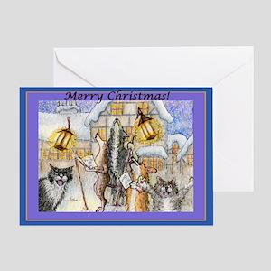 Howls and Yowls Greeting Card