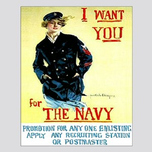 I Want You In The Navy Small Poster