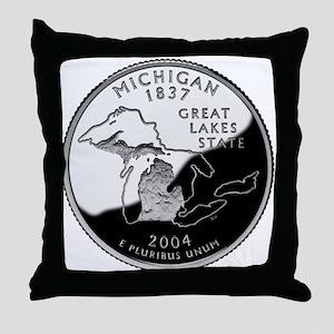 Michigan Quarter Throw Pillow