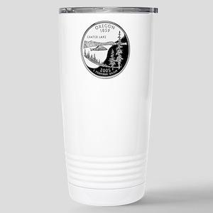 Oregon Quarter Stainless Steel Travel Mug