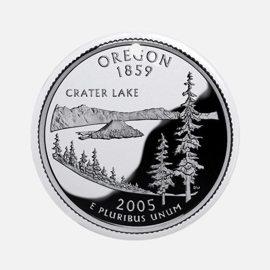 Oregon Quarter Ornament (Round)