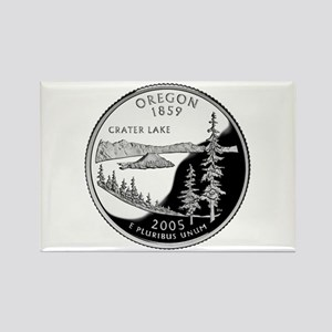 Oregon Quarter Rectangle Magnet