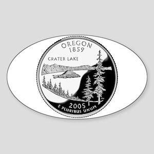 Oregon Quarter Oval Sticker
