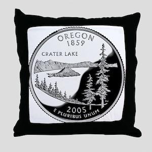 Oregon Quarter Throw Pillow