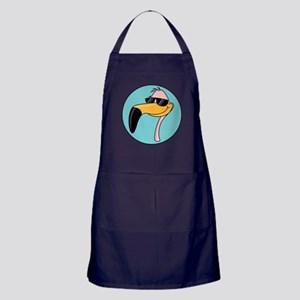 Flamingo in Shades Apron (dark)