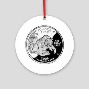 Alaskan Quarter Ornament (Round)