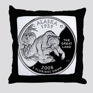 Alaskan Quarter Throw Pillow