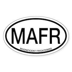 MAFR Magnificent Frigatebird Alpha Code Decal