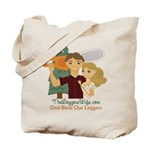 God Bless Our Loggers Tote Bag