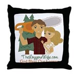God Bless Our Loggers Throw Pillow