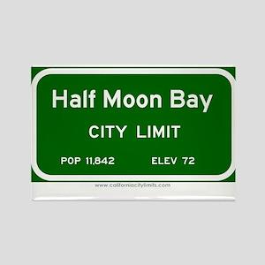 Half Moon Bay Rectangle Magnet