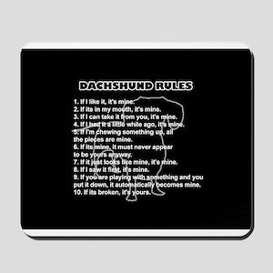 Dachshund Rules Mousepad