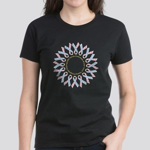 CDH Awareness Ribbon Wreath Women's Dark T-Shirt