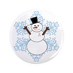 CDH Awareness Ribbon Snowman 3.5