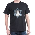CDH Awareness Ribbon Snowman Dark T-Shirt