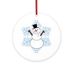 CDH Awareness Ribbon Snowman Ornament (Round)
