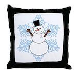 CDH Awareness Ribbon Snowman Throw Pillow
