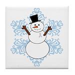 CDH Awareness Ribbon Snowman Tile Coaster