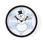 CDH Awareness Ribbon Snowman Wall Clock