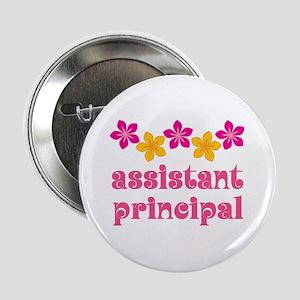 """Floral School Principal 2.25"""" Button"""