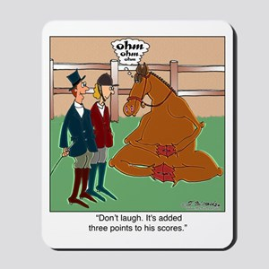 Don't Laugh at Yoga for Horses Mousepad