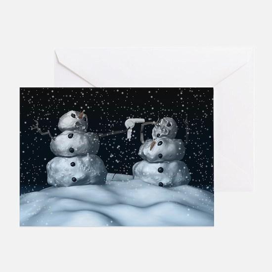Mean Snowman Greeting Card