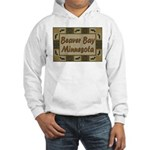 Beaver Bay Minnesota Loon Hooded Sweatshirt