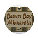 Beaver Bay Minnesota Loon Ornament (Round)