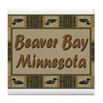 Beaver Bay Minnesota Loon Tile Coaster