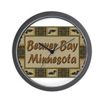 Beaver Bay Minnesota Loon Wall Clock