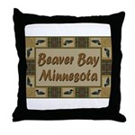 Beaver Bay Minnesota Loon Throw Pillow
