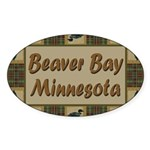 Beaver Bay Minnesota Loon Oval Sticker (10 pk)