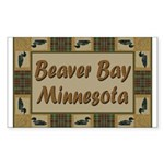 Beaver Bay Minnesota Loon Rectangle Sticker 10 pk